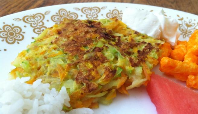 carrot zucchini latkes