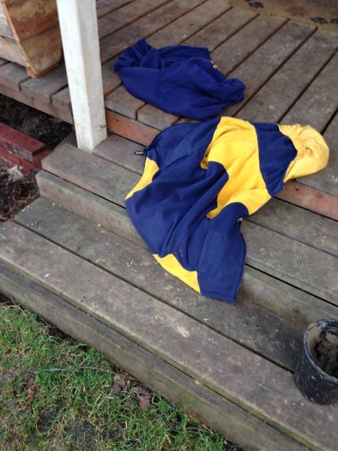 coat on porch